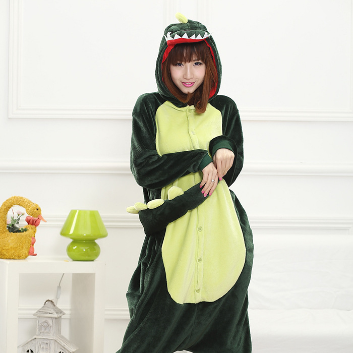 Wholesale Dinosaur Unicorn Pikachu Unisex Flannel Hoodie Pajamas Costume Cosplay Animal Onesies Sleepwear Men Women Christmas