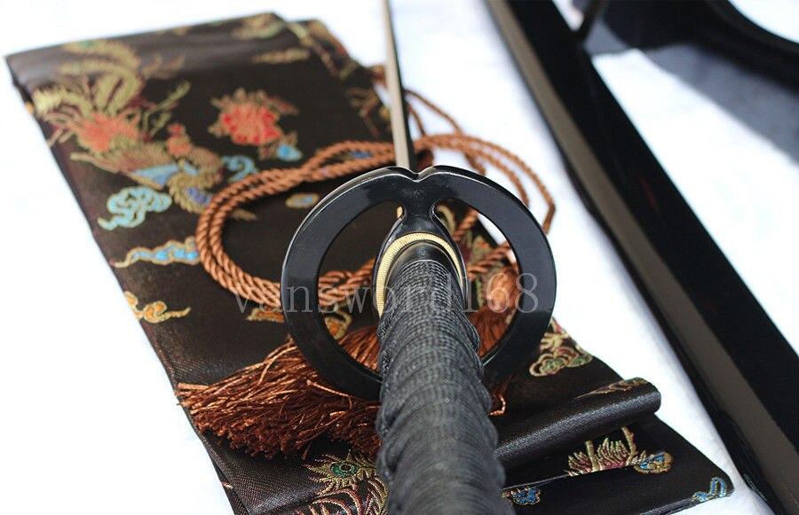 əl saxta damask polad yapon samuray real qılınc katana iti - Ev dekoru - Fotoqrafiya 4