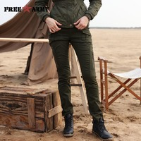 Free Army Brand New Fashion 2015 Womens Pants Mid Waist Full Length Patch Pocket Buttons Zipper