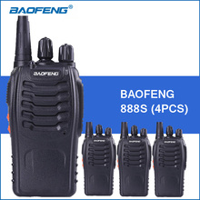 4pcs/lot Baofeng bf-888S Portable Walkie Talkie UHF 400-470MHz 5W 1800mAh BF 888S Handheld Two Way Radio Communitor Transceiver