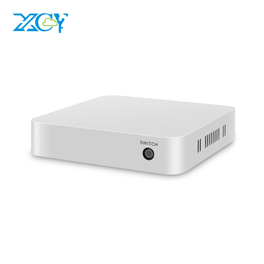 XCY Plastic Case Mini PC Celeron N2830 DDR3L RAM Windows 10 WiFi Hdmi VGA 4*USB Office Computer TV BOX Mini Computer Minipc