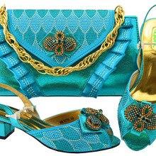 Turquoise blue italian sandal shoes and clutches bag for big party shoes  and bag sandal shoes a8423206e11e