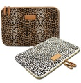 Kayond Brand Leopard Laptop Sleeve Case 10,11,12,13,14,15,15.6 inch Bag,Notebook, For ipad Tablet,For MacBook,Free Shipping