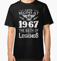 Summer Cotton Short Life Begins At 50 1967 The Birth Of Legends Men Gift O Neck