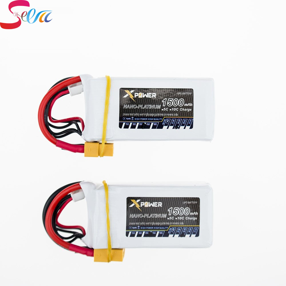 1500Mah 14.8V 4S 45C Lithium Li-po Battery XT60 Plug 2 pcs For RC Helicopter Qudcopter Drone Truck Car Boat Bateria 1pcs 1500mah 14 8v 4s 45c li po battery xt60 plug for rc helicopter qudcopter drone truck car boat