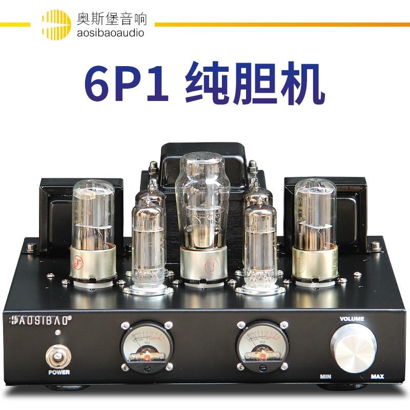 AV388B amplificateur Audio à Tube de vide et de Valve classe A amplificateur de puissance à une extrémité 6.8w * 2 amplificateur HIFI de classe antique qualité sonore superbe
