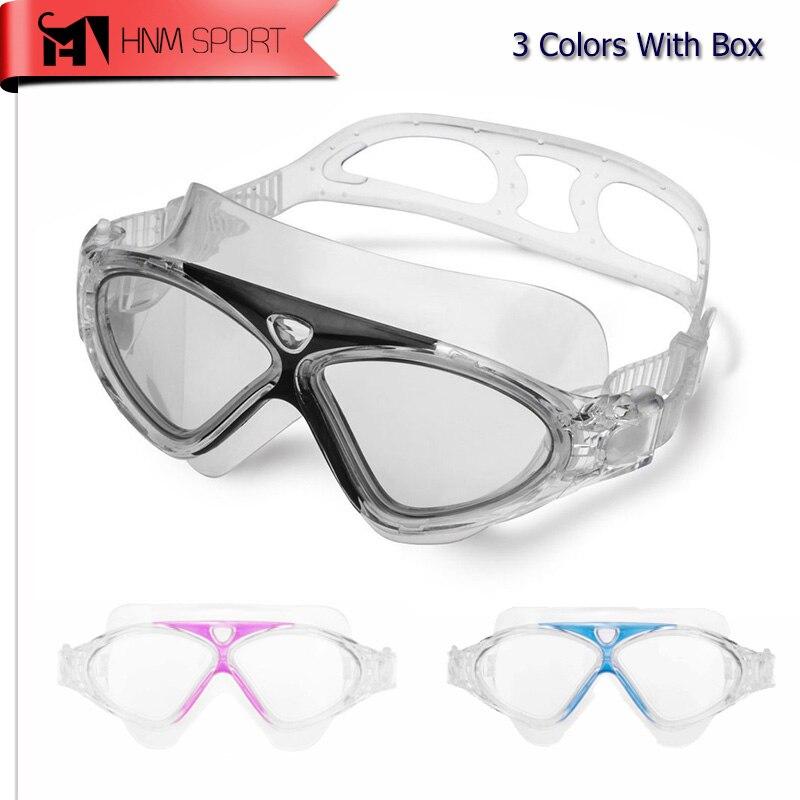 2017 Profesional Claro Gafas de Natación Contra la Niebla Anti-Ultravioleta de N