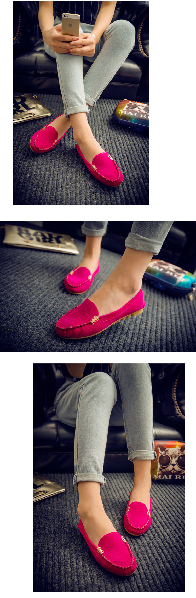 HTB1wqQFXiDxK1RjSsD4q6z1DFXa9 Plus Size 35 43 Women Flats shoes 2019 Loafers Candy Color Slip on Flat Shoes Ballet Flats Comfortable Ladies shoe zapatos mujer