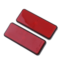 1 Pair Red Motorcycle Reflector Reflective Strips For ATV Scooter Dirt Bike Moped 4 Wheeler farol auxiliar moto 98mm