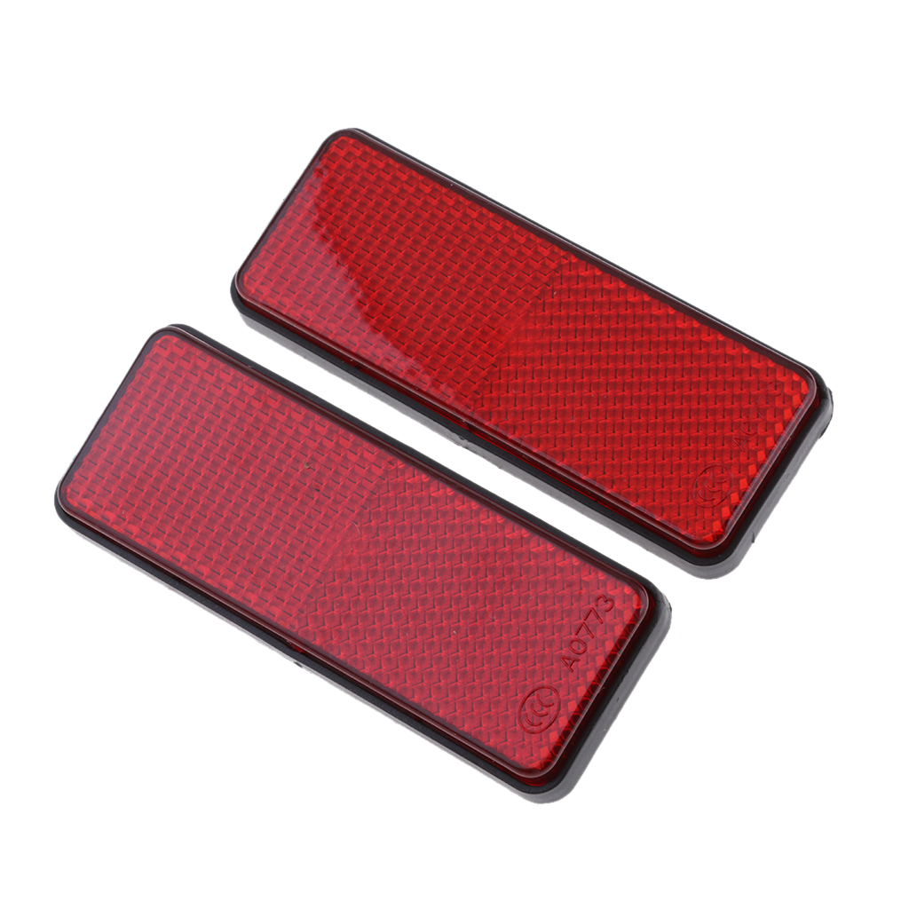 1 Pair Red Motorcycle Reflector Reflective Strips For Motorcycle ATV Scooter Dirt Bike Moped 4 Wheeler farol auxiliar moto 98mm image