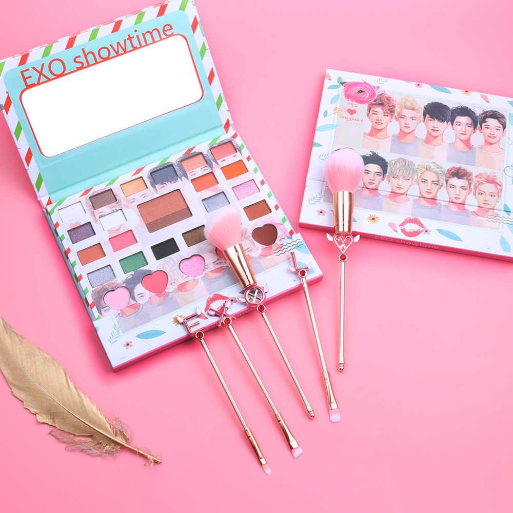 Новинка Корея EXO Eye Makeup Nudes палитра 26 цветов матовые тени для век Палитра Блеск Пудра Тени для век с кисточкой набор штампов пигмент