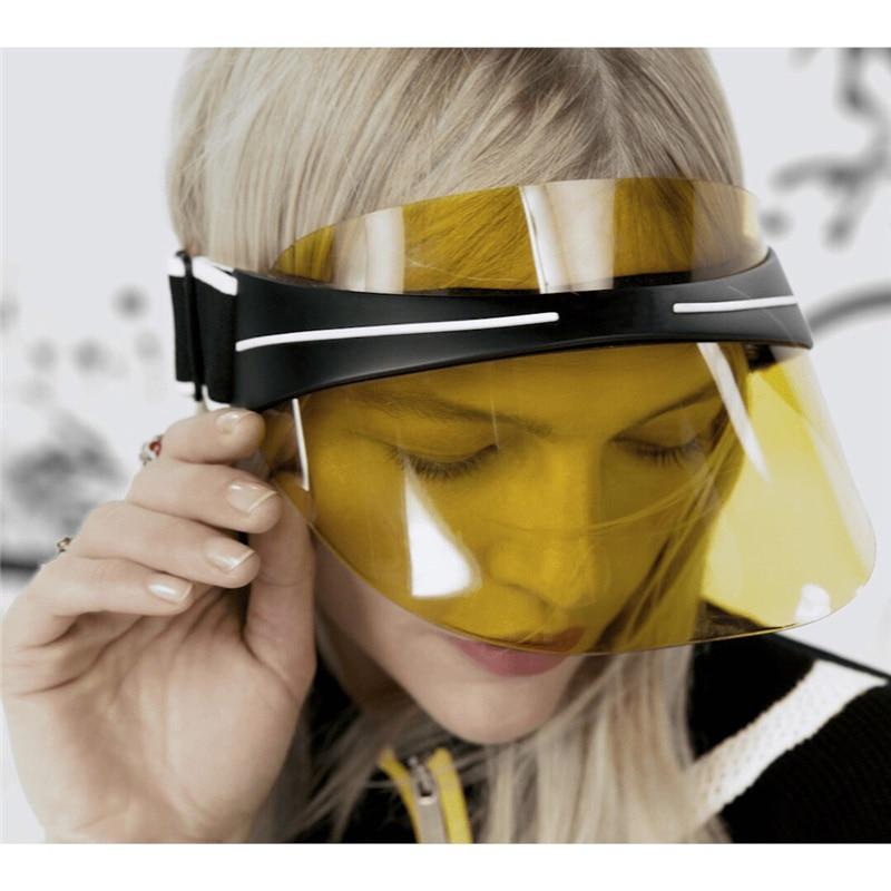 Hats women 2018 UV Protection Lens men Hats Visor Sun Hat Unisex The HD vision plastic visor outfly b12038 men s uv protection visor cap hat w detachable mask deep blue