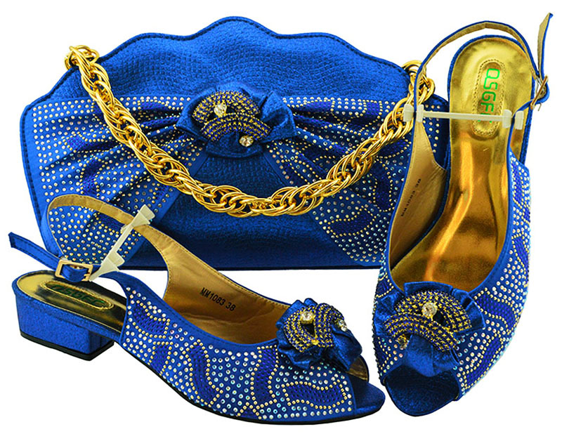 Ebi 2 Chaussures Et Italiennes Bleues Ensemble De Sb8308 Nouvelle Embrayages Assorti Mode Royal Sandale Sac Aso Sacs Africain Sqp8w