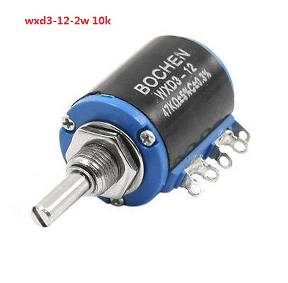 цена на WXD3-12-2W Shaft Dia 10K Ohm Rotary side Multiturn Potentiometer WXD3