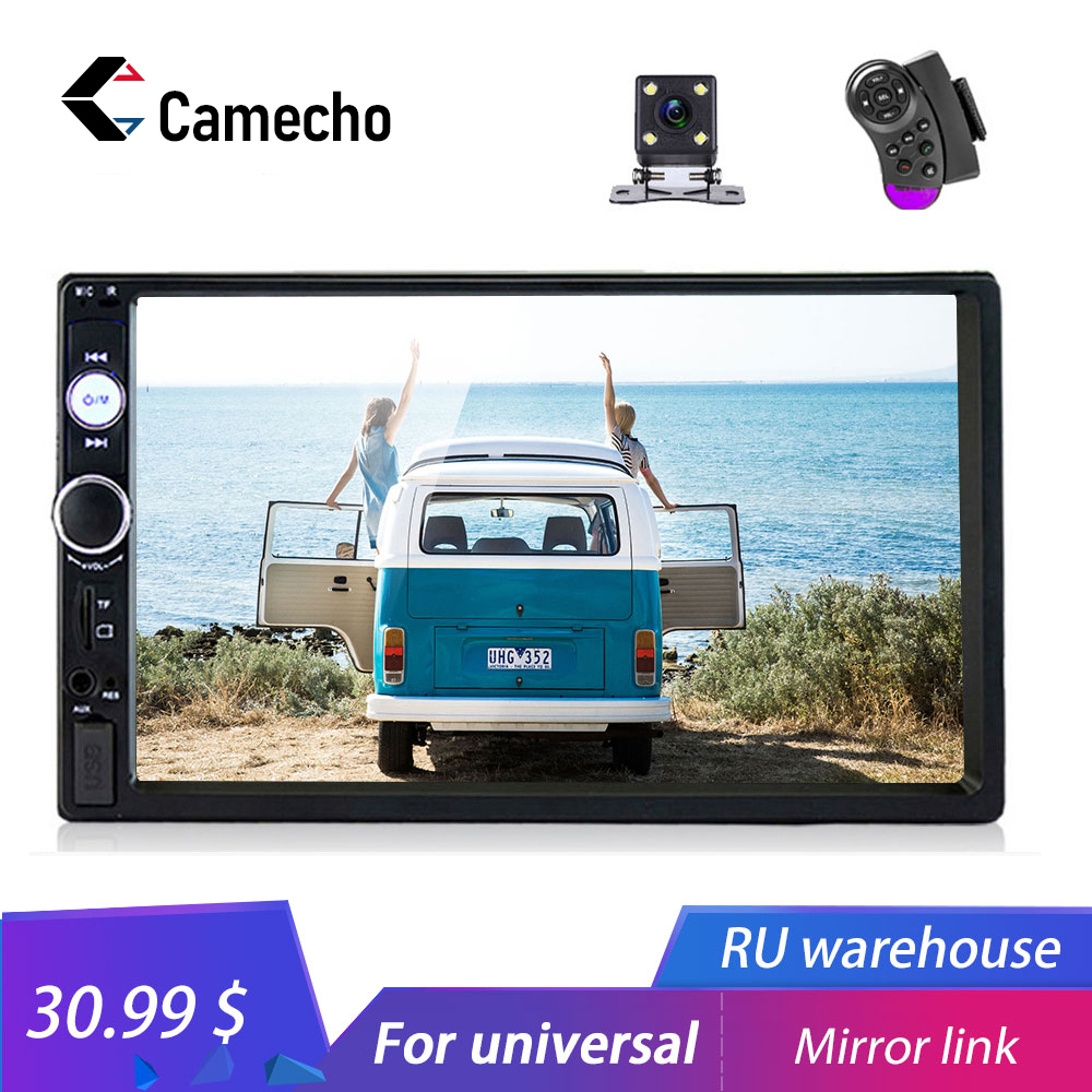 Camecho 7 Universal 2 din Car Multimedia Player Autoradio 2din Stereo 7 Touch Screen Video MP5 Player Auto Radio Backup Camera