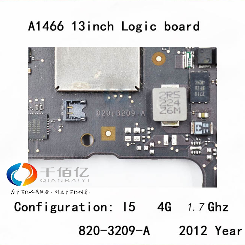 Used-with-100-working-Logic-board-for-Macbook-Air-A1466-mother-board-13-I5-4G-3