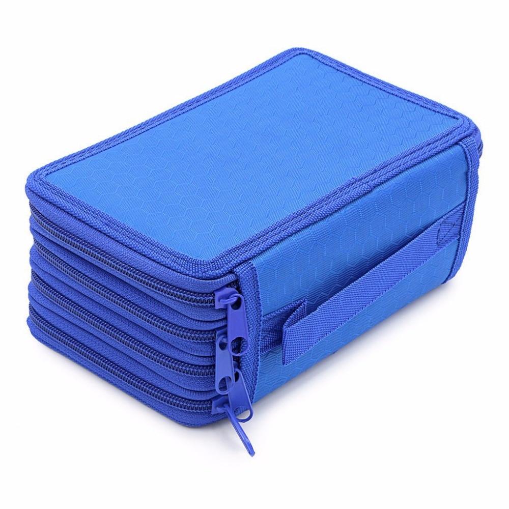Estojos bolsa caixa de lápis lona Estilo 3 : Estojo 4 Camadas