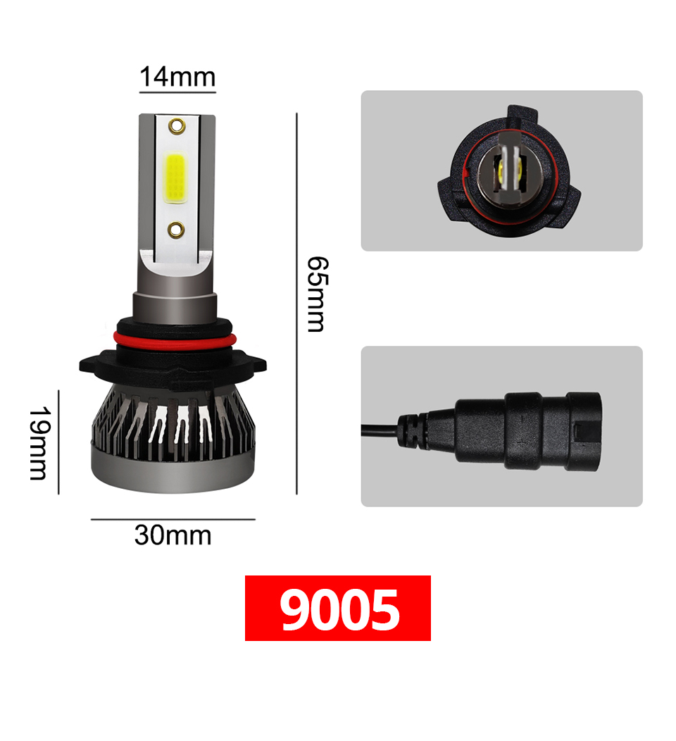 2Pcs Meetoo Motorcycle Headlight H7 Led bulb HB3 HB4 H11 9006 8000LM Motorbike Light White 6500K Moped Scooter Outdoor Lighting (13)