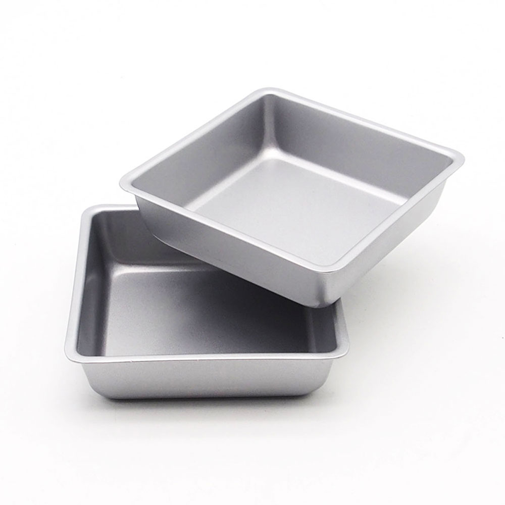 square baking pan Tray Oven Steel Trays Bread Baking Forms Pan Cookie Cake Pan Mold microwave dish baguette baking tray image