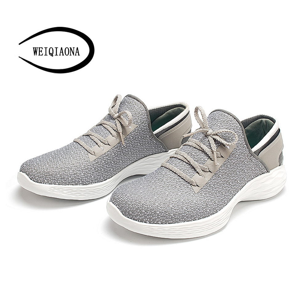 WEIQIAONA 2018 New Brand Design Fashion Women Shoes Casual Flats Cross tied Air Mesh School Shoes Party Shoes Ladies Shoes