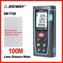SNDWAY Laser Medidor de Distância Rangefinder Range Finder 80 60 40 m m m 100 m Fita Eletrônica Trena Régua Tester ferramenta de mão Dispositivo de Construir