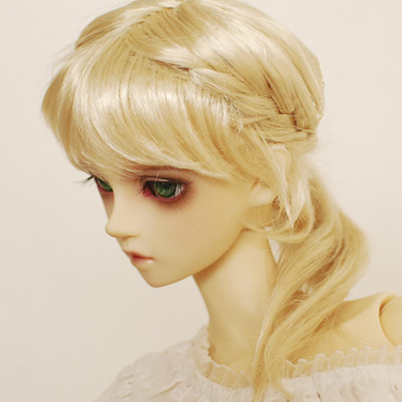 1/3 Bjd Wigs Braided Hair Ponytail Multi-color Faux Mohair Sd Doll Wig Allaosify Relieving Rheumatism And Cold