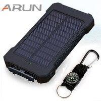 Top Solar Power Bank Dual USB Travel Power Bank 20000mAh External Battery Portable Bateria Externa Pack