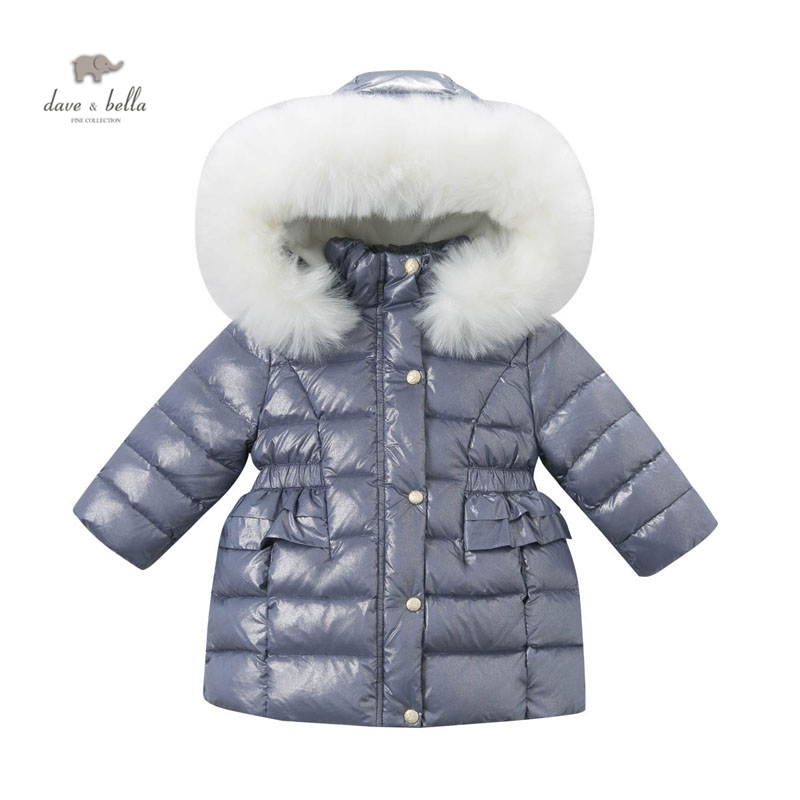 ФОТО DB3446 DAVE BELLA baby  girl padded jacket with hood winter clothes down jacket