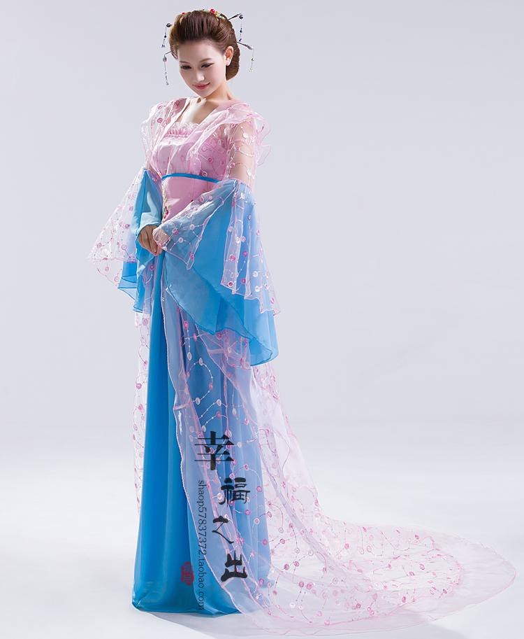 3cd7a41857b81 US $132.09 49% OFF|New design Chinese ancient style hanfu tang suit women's  fairy princess stage clothes fancy dress folk dance costume-in Chinese ...