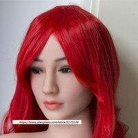 Новый WMDOLL куклы голова с красный парик для всего тела кукла секса для Для мужчин секс 140 170 см