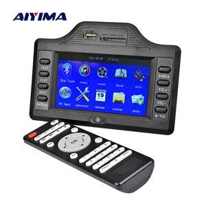 Плата усилителя AIYIMA, сабвуфер, Bluetooth, 50 Вт * 2 + 100 Вт, 4,3 дюйма, ЖК-дисплей, Bluetooth, приемник Auido, декодер MP4 MP5, видео декодер, DC12V