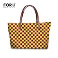Hot Fashion Women Handbag Plaid Woman Big Size Bags Casual Yellow Shoulder Bags Ladies Tote Office Shopping Bolsas Femininas sac