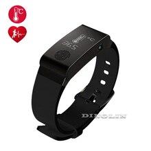 GZDL Smart Band Thermometer Bracelet Waterproof Sleep Fitness Tracker Wristband Blood Oxygen Heart Rate Monitor Device WT8113