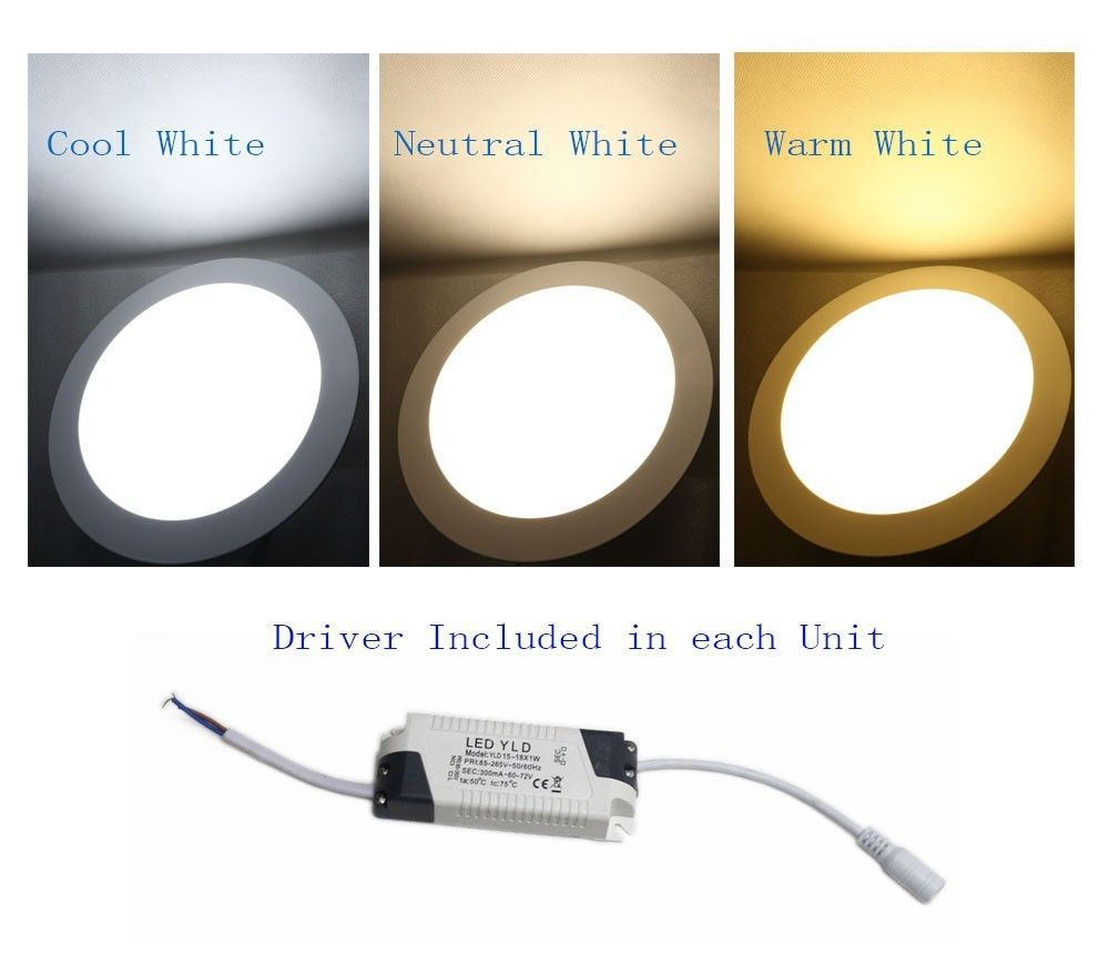 9w Bright Led Recessed Ceiling Panel Down Light Bulb Lamp Warm White