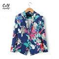 Blazer Das Mulheres Plus Size XXL Floral Elegante Impressão Blaser Terno Jaqueta Casual de Design Da Marca Casaco Chaquetas Mujer ASS-2797