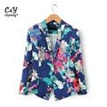 Blazer Women Plus Size XXL Floral Elegant Print Blaser Casual Suit Jacket Brand Design Coat Chaquetas Mujer ASS-2797