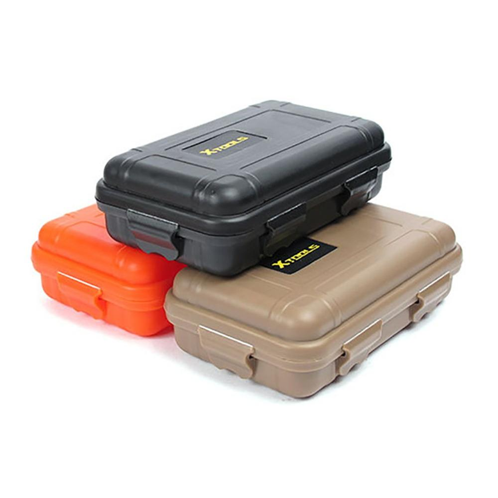 Outdoor Storage Box With Lid Small Portable Waterproof Shockproof Crush-proof (Survival) Tool Organizer Sealed Case Container
