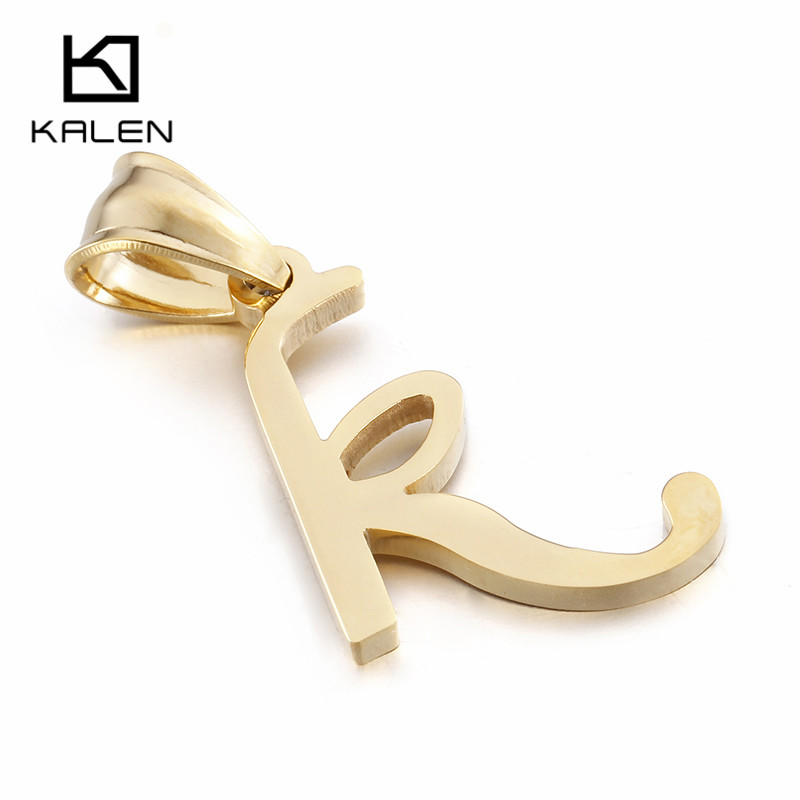 Kalen Capital Letter A B C D E F G H I J K L M N O P Q I S T U V W X Y Z Jewelry Pendant Necklace Gold Color For Women Gift 2017