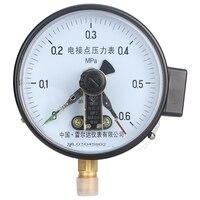 Leierda manometer mit elektrische kontakt druckschalter gas manometer oberen untergrenze control gauge YX-150 serie
