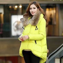 Down & Parkas Nice Women's winter jacket Hooded winter coat women Artificial Fur collar down coat 5 colors winter jackets women