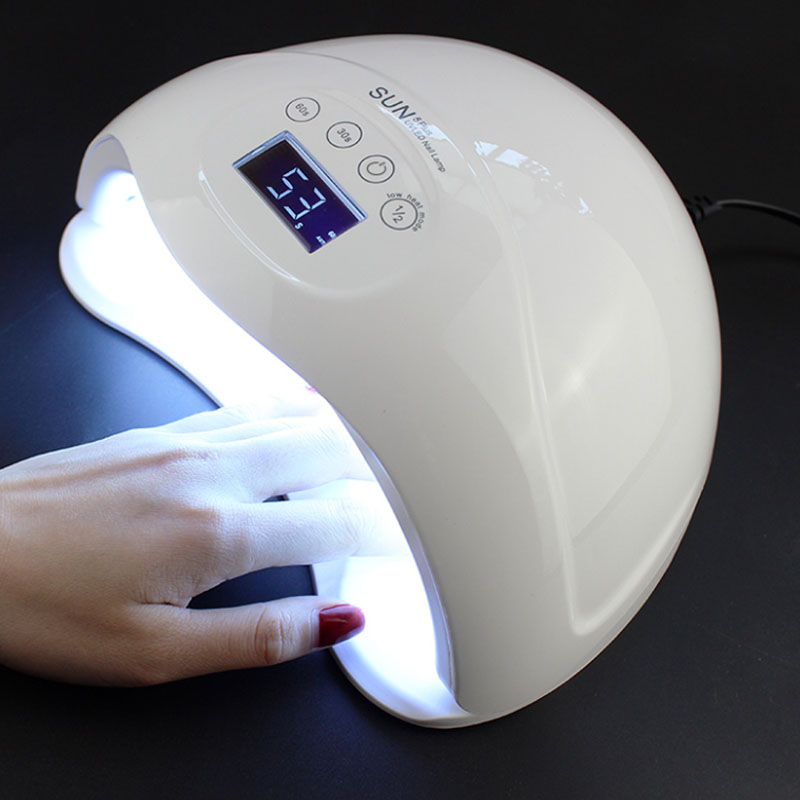 SUN5 Plus Nail Dryer 48W LED Lamp UV Lamp Nail Quick Drying Painless Profession Nail Machine With Infrared Sensor LCD Display shanghai kuaiqin kq 5 multifunctional shoes dryer w deodorization sterilization drying warmth