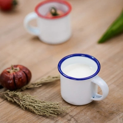 Drinkware Enamel mini jam cup cream cups seasoning cup small glass sauce cups Free shipping