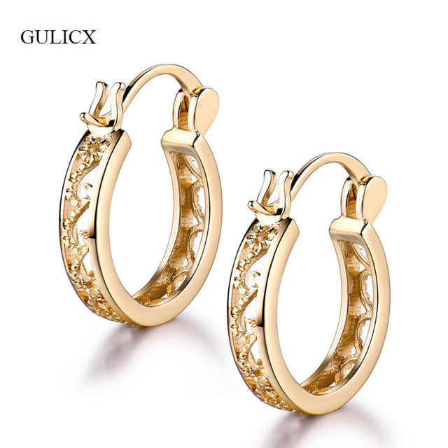 Gulicx 2017 Fashion Small Round Basket Earrings For Women Silver Gold Color New Design
