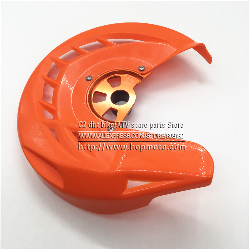 CNC Billet Front Brake Disc Cover Protector Rotor Guard for KTM  125-530 EXC/EXC-F 2003-2015   SX SXF XC XCF EXC EXCF orange cnc billet factory oil filter cover for ktm sx exc xc f xcf w 250 400 450 520 525 540 950 990