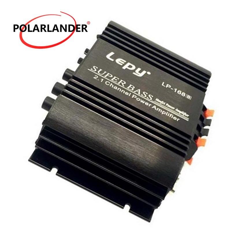 Lepy LP-168S 12V Power Subwoofer 2.1 Channel Auto Audio Car Amplifier Bass Output HiFi Stereo Sound AUX Function Loud Speaker