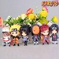 HOT Anime Naruto Set of 6x Doll Figure Keychain Uzumaki Sasuke Kakashi PVC Pendant Kid Birthday Gift