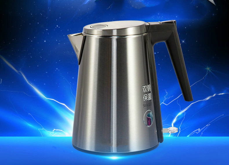Electric kettle boiling pot food grade 304 stainless steel 1.5 liter Anti-dry Protection electric kettle boiling pot 304 stainless steel home insulation 1 7l anti dry protection