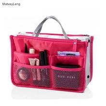 цена на MatveyLeng Clear Compact Portable Make Up Women Makeup Organizer Bag Girls Cosmetic Bag Toiletry Travel Kits Storage Bag