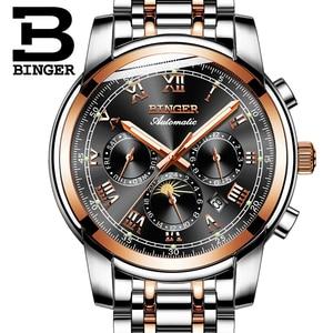Image 4 - Switzerland Automatic Mechanical Watch Men Binger Luxury Brand Mens Watches Sapphire clock Waterproof relogio masculino B1178 3