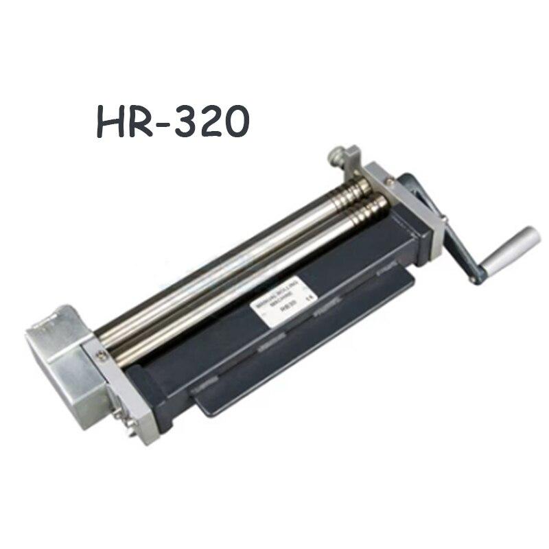Inoxydable en acier plate rolling machine Manuel machine à rouler de bureau en acier plaque/métal rolling machine de traitement HR-320